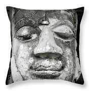 Portrait Of The Buddha Throw Pillow by Shaun Higson