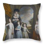 Portrait Of The Children Of William Throw Pillow