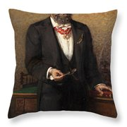 Portrait Of The Commander A Salviati Throw Pillow