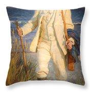 Portrait Of The Danish Painter Peder Severin Kroyer Throw Pillow