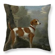 Portrait Of The Duke Of Hamilton Hound Throw Pillow