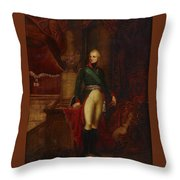 Portrait Of The Emperor Alexander Throw Pillow