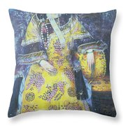 Portrait Of The Empress Dowager Cixi Throw Pillow by Chinese School