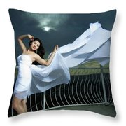 Portrait Of The Girl  Throw Pillow