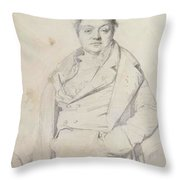 Portrait Of The Painter Charles Thevenin Director Of The Academy Of France In Rome Throw Pillow