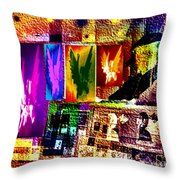 Portrait Of The Poet As An Angel Drunk On Love Throw Pillow