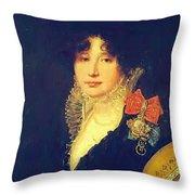 Portrait Of The Princess A Scherbatova 1808 Throw Pillow