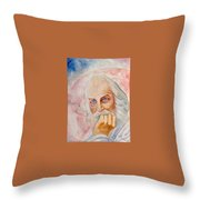 Portrait Of The Us-american Poet Walt Whitman Boris Grigoriev Throw Pillow