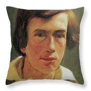 portrait of the young Arnold Bocklin Throw Pillow
