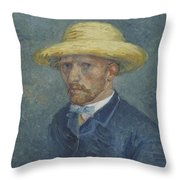 Portrait Of Theo Van Gogh Paris, Summer 1887 Vincent Van Gogh 1853  1890 Throw Pillow