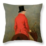 Portrait Of Thomas Cholmondeley Throw Pillow by Henry Calvert