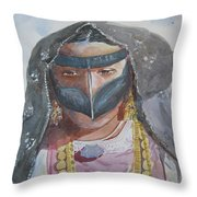 Portrait Of Uae Woman  Throw Pillow