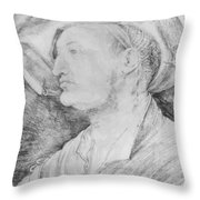 Portrait Of Ulrich Varnbiiler 1522 Throw Pillow