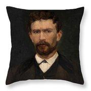 Portrait Of Unknown Man Rosales Gallinas, Eduardo Throw Pillow