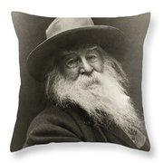 Portrait Of Walt Whitman Throw Pillow