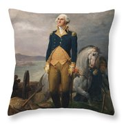 Portrait Of Washington Throw Pillow