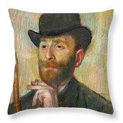 Portrait Of Zacherie Zacharian Throw Pillow