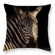Portrait Of Zebra Throw Pillow