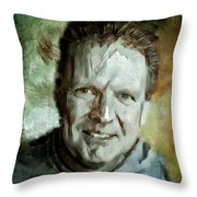 Portrait Painting Cinematographer Camera Operator Behind The Scenes Movie Tv Show Film Chicago Med Throw Pillow