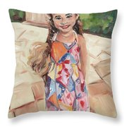 Portrait Painting Throw Pillow