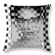 Portrait Visually Unstable Throw Pillow