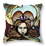 Portrait With Nature # 4 Throw Pillow