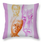 Portraits In 3b Throw Pillow