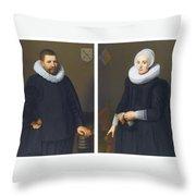 Portraits Of Ijsenbrand Allerts Throw Pillow