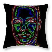 Portrait 09 On Black Throw Pillow