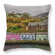 Portree Harbour Throw Pillow