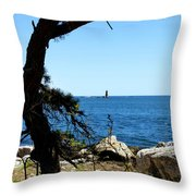 Portsmouth Harbor Light Throw Pillow