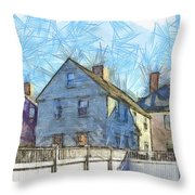Portsmouth New Hampshire Pencil Throw Pillow