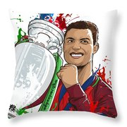 Portugal Campeoes Da Europa Throw Pillow