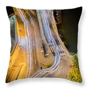 Portugal Detalhe De Vila Nova De Gaia Da Ponte De D Luis Throw Pillow