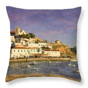 Portugal, Ferragudo Village  Throw Pillow