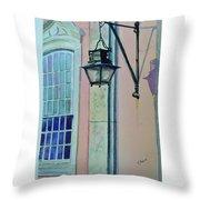 Portugal Street Scene Throw Pillow
