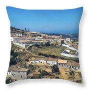 Portugese Hillside Village Throw Pillow