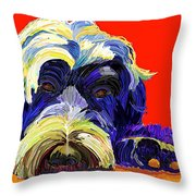 Portugese Water Dog 1 Throw Pillow