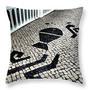 Portuguese Cobblestone Throw Pillow