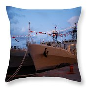 Portuguese Frigates Throw Pillow