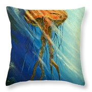 Portuguese Man Of War Throw Pillow