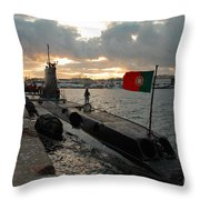 Portuguese Navy Submarine Throw Pillow