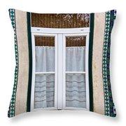 Portuguese Window Throw Pillow