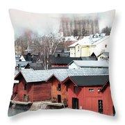 Porvoo Town II Throw Pillow