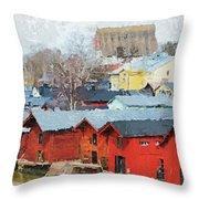 Porvoo Town Throw Pillow
