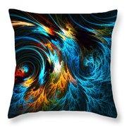 Poseidon's Wrath Throw Pillow