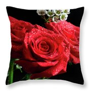 Posey Of Roses Throw Pillow by Tracy Hall