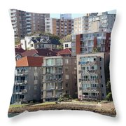 Posh Burbs Throw Pillow by Stephen Mitchell