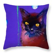 Posh Tom Cat Throw Pillow