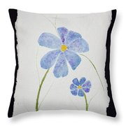 Posies Throw Pillow